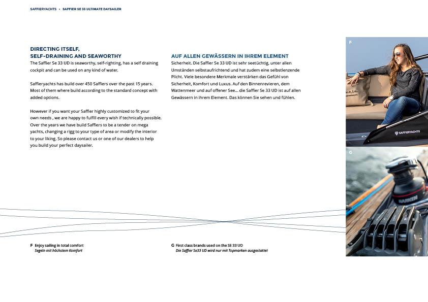 Restyling Saffier Yachts brochures